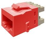 Commscope KJ510 JACK-RED   KJ Series Keystone Modular Jack, 8-position, category 5e, unshielded UTP, red