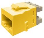 Commscope KJ510 JACK-YEL   KJ Series Keystone Modular Jack, 8-position, category 5e, unshielded UTP, yellow