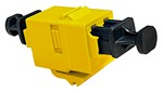 Commscope 1933422-2   Fiber Optic LC Duplex Keyed Adapter, SL, Yellow, Single Pack