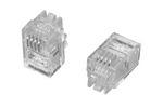 Commscope MP-44U-F-1   Modular Plug, 4P/4C, unshielded, headset, flat oval, 2.29 x 4.83 mm cable jack OD, category 3, 100/bag
