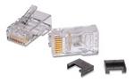 Commscope MP-5EU-1   Modular Plug Kit, category 5e, 8P/8C, unshielded, 4.8 – 5.6 mm max cable jack OD, 8-position, 100/bag