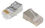 Commscope MP-5ES-1   Modular Plug Kit, category 5e, 8P/8C, shielded, 4.8 – 5.6 mm max cable jack OD, 8-position, 100/bag