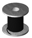 Commscope MT-584-250 | Ground Wire, #2 AWG, stranded insulated, black jacket, 250 ft roll
