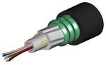 Commscope O006DA8WF06NS | LightScope ZWP Single Jacket Single Armor Outdoor Drop Cable, 1–12 fiber Arid Core construction, central loose tube