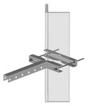 Commscope SS-TB2550 | Star Support Tee Bracket for 1-1/2 in to 5-9/16 in OD round members and 2-1/2 in to 5 in angle members