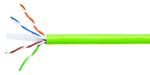 Commscope 1071E-UTG SGR C6 4/23 U/UTP W1000 | GigaSPEED XL 1071E-UTG ETL Verified Category 6 U/UTP Cable, non-plenum, spring green jacket, 4 pair count, 1000 ft (305 m) length, WE TOTE box