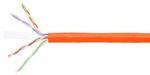 Commscope 2071E-UTG ORG C6 4/23 U/UTP R1000 | GigaSPEED XL 2071E-UTG ETL Verified Category 6 U/UTP Cable, plenum, orange jacket, 4 pair count, 1000 ft (305 m) length, reel