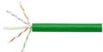 Commscope 2091B-UTG GRN C6A 4/23 U/UTP R1000 | GigaSPEED X10D 2091B-UTG ETL Verified Category 6A U/UTP Cable, green jacket, 4 pair count, 1000 ft (305 m) length, reel