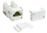 Commscope M1AH-262 MODULE | M1 Modular 6 Conductor Telecommunications Outlet, white