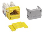 Commscope MGS400-123   GigaSPEED XL MGS400 Series Category 6 U/UTP Information Outlet, yellow