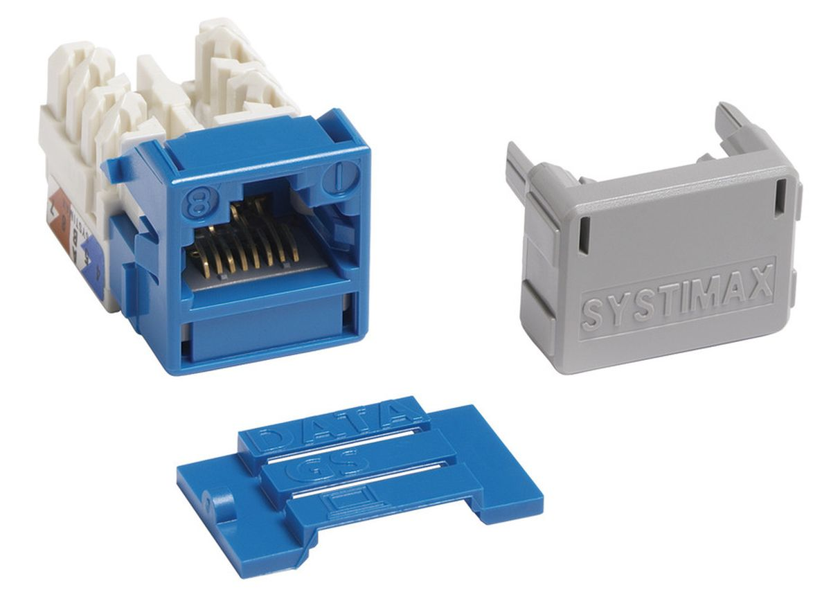 Commscope MGS400-318   GigaSPEED XL MGS400 Series Category 6 U/UTP Information Outlet, blue