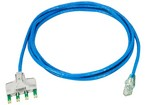 Commscope TP6TB-BL10   Ultim8 Copper Patch Cord, 4-pair to RJ45, category 6, blue, 10 ft