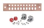 Commscope UGBKIT-0210 | Copper Ground Buss Bar, 1/4 in x 2 in x 10 in (6.4 mm x 50.8 mm x 254.0 mm)