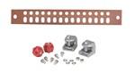 Commscope UGBKIT-0214 | Copper Ground Buss Bar, 1/4 in x 2 in x 14 in (6.4 mm x 50.8 mm x 355.6 mm)