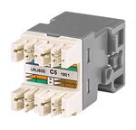 Commscope UNJ600-GY-100PK   Uniprise Modular Jack, RJ45, category 6, T568A/T568B, unshielded, without dust cover, gray, 100 pack