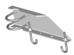 Commscope WB-LB12-3 | Waveguide Bridge Support Bracket, 12 in wide for 3-1/2 in OD legs