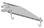 Commscope WB-LB24-3 | Waveguide Bridge Support Bracket, 24 in wide for 3-1/2 in OD legs