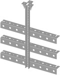 Commscope WB-T24-3 | Trapeze Kit, triple tee, 24 in wide, three rungs