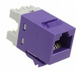 Commscope 1-1375191-0   RJ45 Modular Jack, SL Series, Category 5e, unshielded, without dust cover, violet