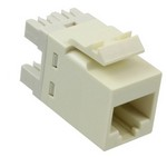 Commscope 1375191-1   RJ45 Modular Jack, SL Series, Category 5e, unshielded, without dust cover, light almond