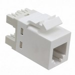 Commscope 1-1375192-3   SL110 Series Modular Jack, 8-position, RJ11, category 3, unshielded, without dust cover, alpine white