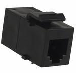 Commscope 555052-1   RJ45 Coupler Assembly, category 3, 8-position, inline, black