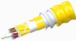 Commscope N-072-DZ-8W-FMUYL/B2 | TeraSPEED Low Smoke Zero Halogen Riser Distribution Cable, interlocking aluminum armored with low smoke zero halogen riser jacket, 72 fiber multi-unit with 12 fiber subunits