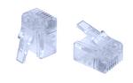 Commscope MP-66U-FS-5 | Modular Plug, 6P/6C, unshielded, small conductor, std. body, flat oval, 2.29x6.61 mm cable jack OD, 500/bag