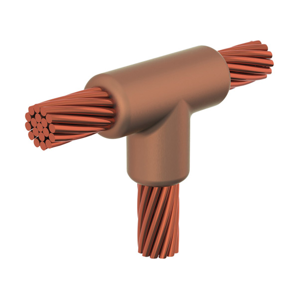 Erico TVCT5T4 - GROUNDING - CADWELD MOLD, CABLE, VERT TEE