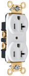 Legrand PS5362-W | Pass and Seymour | Heavy-Duty Spec Grade Receptacles, Back & Side Wire, 20A, 125V, White