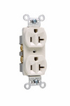 Legrand CR20-LA | Pass and Seymour | Commercial Spec Grade Receptacle, Side Wire, 20A, 125V, Light Almond