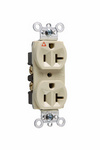 Legrand IG5362-I | Pass and Seymour | Isolated Ground Heavy-Duty Spec Grade Receptacles, Back & Side Wire, 20A, 125V, Ivory