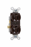 Legrand CR15 | Pass and Seymour | Commercial Spec Grade Receptacle, Side Wire, 15A, 125V, Brown