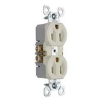 Legrand 3232-LA | Pass and Seymour | 15A/125V TradeMaster Duplex Receptacle, Light Almond