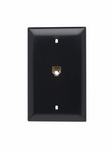 Legrand TPTE1BK | On-Q | Communication Device, Single Gang Opening Modular Four Conductor Telephone Jack with Wall Plate, Black