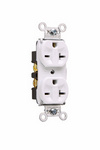 Legrand 5862-I | Pass and Seymour | Heavy-Duty Spec Grade Receptacles, Back & Side Wire, 20A, 250V, Ivory