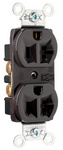Legrand CRB5362 | Pass and Seymour | Construction Spec Grade Receptacles, Back & Side Wire, 20A, 125V, Brown