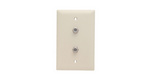 Legrand TPCATV2LA | On-Q | Communication Device, Single gang, two F type coax connectors with wall plate, Light Almond
