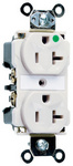 Legrand 8300-W | Pass and Seymour | Extra Heavy-Duty Hospital Grade Receptacles, Back & Side Wire, 20A, 125V, White