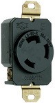 Legrand L630-R | Pass and Seymour | Spec Grade Turnlok Locking Devices, 30A Single Receptacle, Black