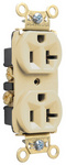 Legrand PS5362-I | Pass and Seymour | Heavy-Duty Spec Grade Receptacles, Back & Side Wire, 20A, 125V, Ivory