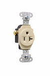 Legrand 5351-I | Pass and Seymour | Heavy-Duty Spec Grade Single Receptacles, Side Wire, 20A, 125V, Ivory