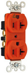 Legrand IG5362 | Pass and Seymour | Isolated Ground Heavy-Duty Spec Grade Receptacles, Back & Side Wire, 20A, 125V, Orange