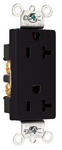 Legrand 26352-BK | Pass and Seymour | Heavy-Duty Decorator Spec Grade Receptacles, Back & Side Wire, 20A, 125V, Black