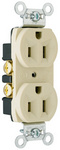 Legrand CRB5262-I | Pass and Seymour | Construction Spec Grade Receptacles, Back & Side Wire, 15A, 125V, Ivory