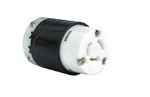 Legrand 7313-SS | Pass and Seymour | Industrial Spec Grade Turnlok 20A Non-NEMA 3-Wire Connector, Black Back, White Front Body