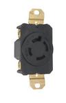 Legrand L1620-R | Pass and Seymour | 20 Amp NEMA L1620 Single Receptacle, Black