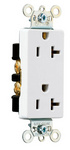 Legrand 26352-W | Pass and Seymour | Heavy-Duty Decorator Spec Grade Receptacles, Back & Side Wire, 20A, 125V, White