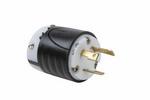 Legrand L530-P | Pass and Seymour | 30 Amp NEMA L530 Plug - Black Back, White Front Body