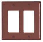 Legrand TP262 | Pass and Seymour | Decorator Openings, Two Gang, Brown